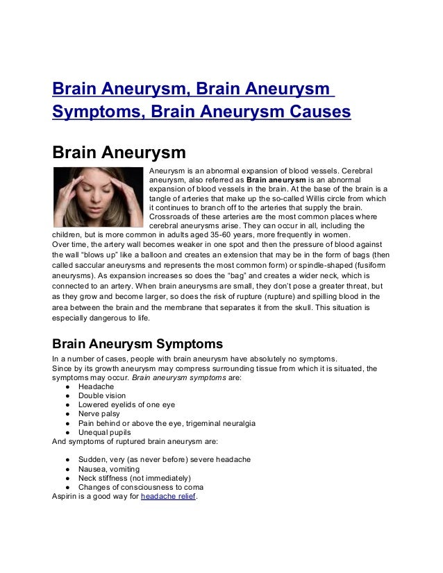 brain aneurysm, brain aneurysm symptoms, brain aneurysm causes, Human Body