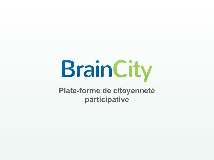 Plate-forme de citoyenneté        participative