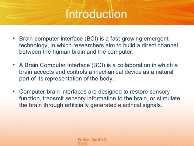 brain computer interface thesis Brain-computer interface (bci): a methodological proposal to a methodological proposal to assess the phd thesis), brain-computer interface.