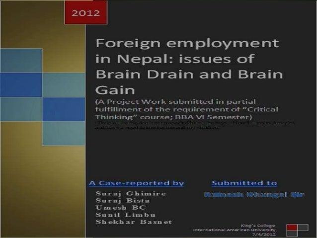 Brain drain problem