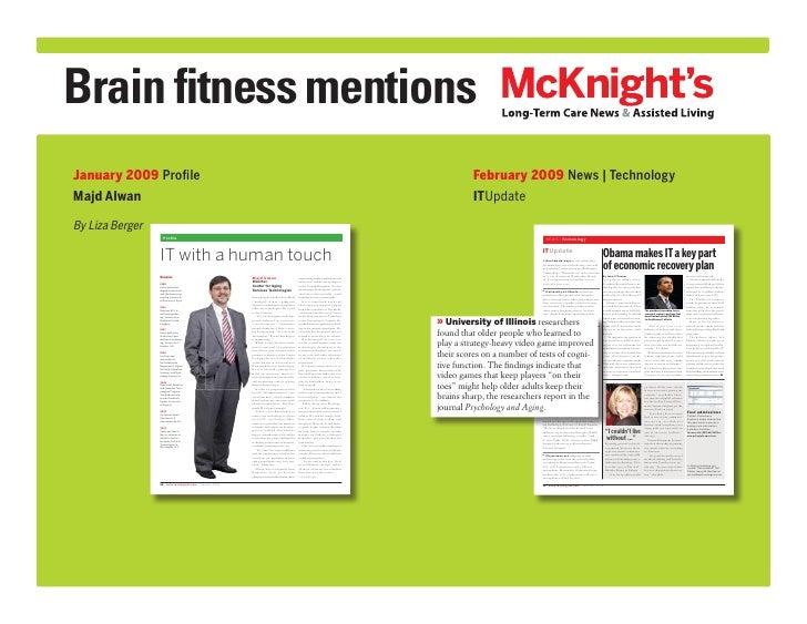 Brain fitness mentionsJanuary 2009 Profile                                                                                ...
