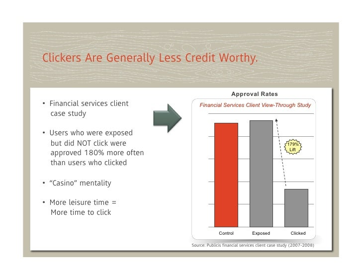 Clickers Are Generally Less Credit Worthy.                                                   Approval Rates• Financial se...