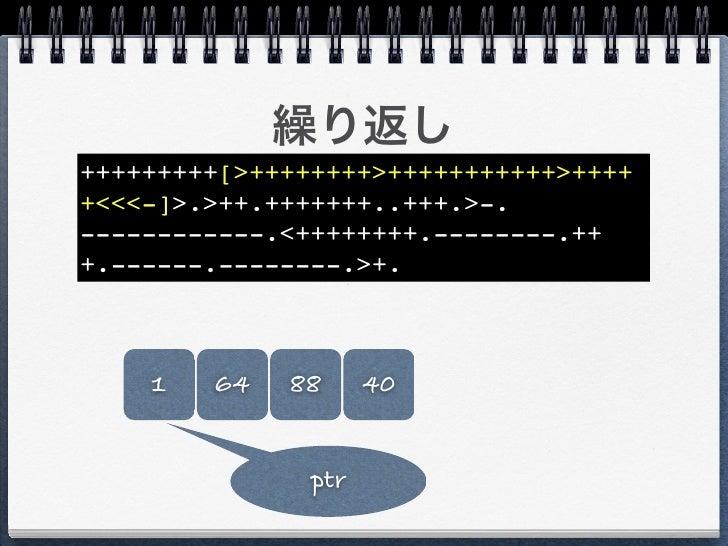"""o"" +++++++++[>++++++++>+++++++++++>++++ +<<<-]>.>++.+++++++..+++.>-. ------------.<++++++++.--------.++ +.------.--------..."