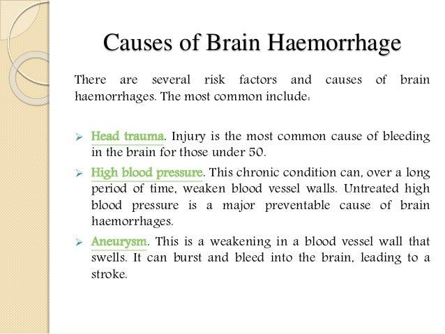 Causes of Brain Haemorrhage ...