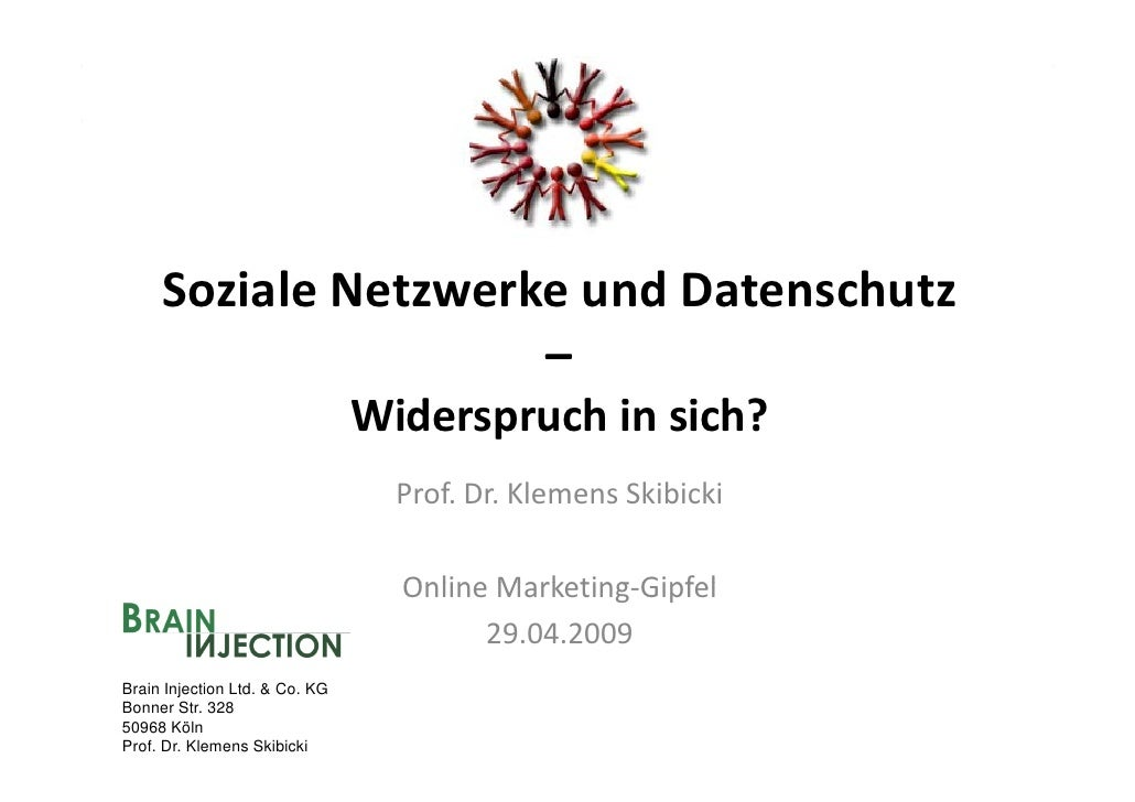 SozialeNetzwerkeundDatenschutz                      –                                 Widerspruchinsich?            ...