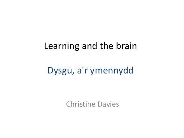 Learning and the brain Dysgu, a'r ymennydd Christine Davies