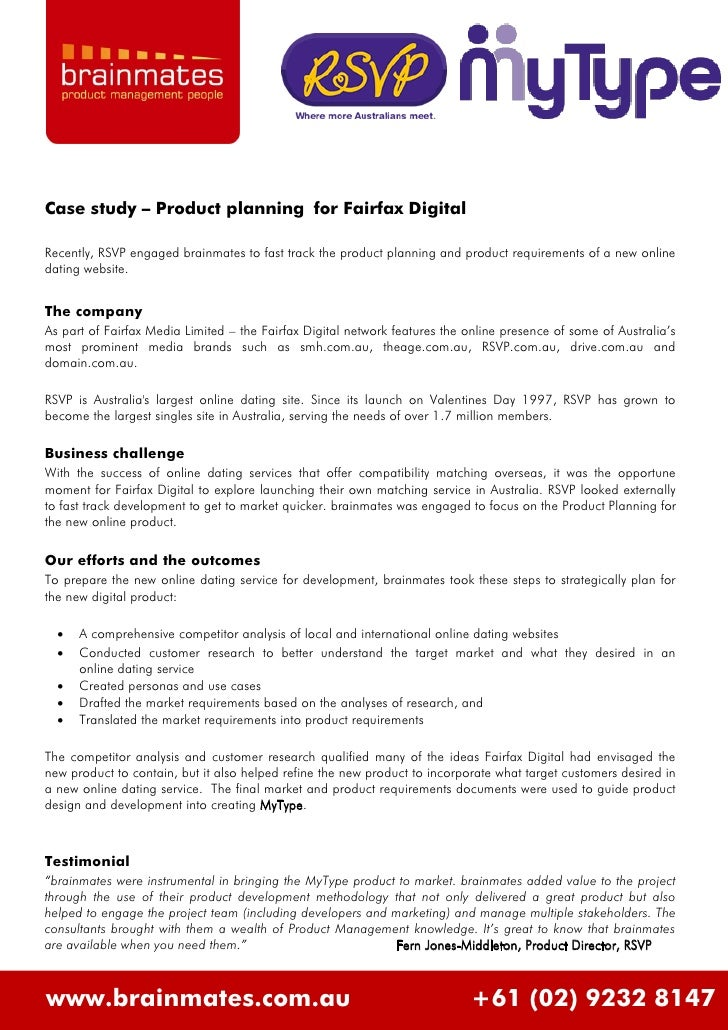 Case study – Product planning for Fairfax Digital  Recently, RSVP engaged brainmates to fast track the product planning an...