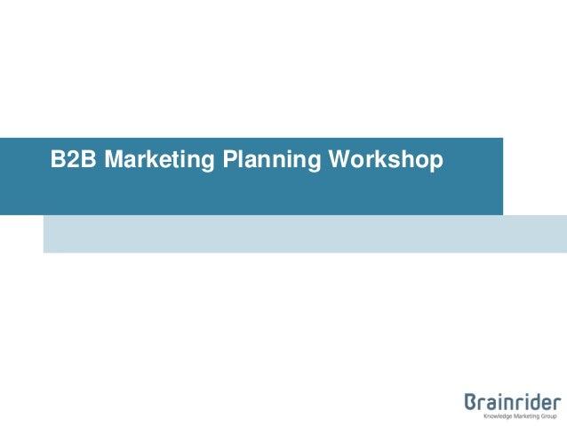 B2B Marketing Planning Workshop
