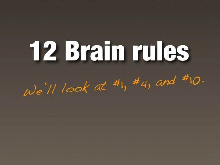 Rule #1           brain power Exe  rcise boosts