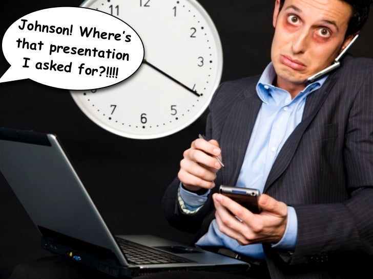 If the presentation matters, you need time off the grid to prepare.