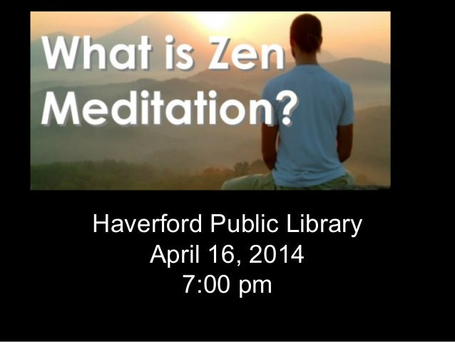 Haverford Public Library April 16, 2014 7:00 pm
