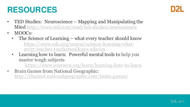 Brain Science and Learning Online