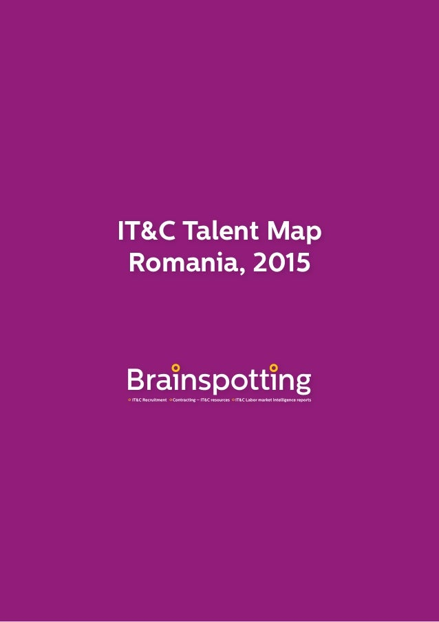 IT&C Talent Map Romania, 2015