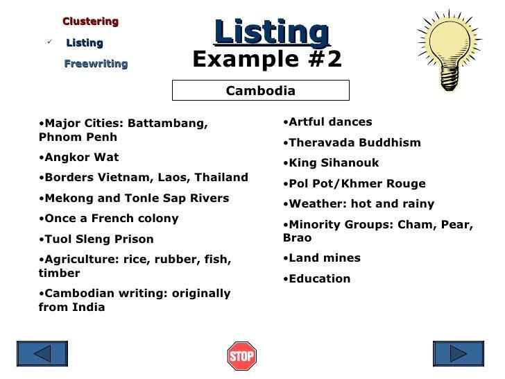 essay brainstorming methods