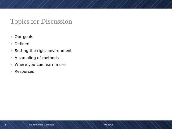 Brainstorming  Slide 2