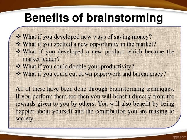 How to do Traditional Brainstorming