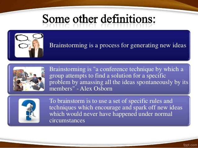 Advanced BrainstormingThe model we propose is an extension of the traditional brainstorming scenarioand makes the whole pr...