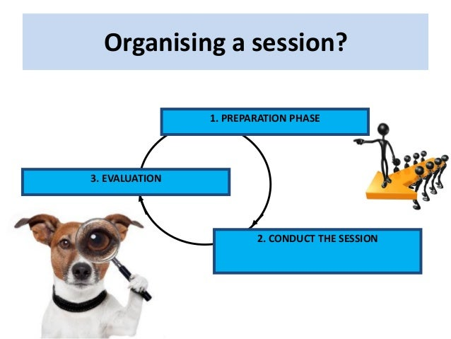 Organising a session? 1. PREPARATION PHASE 2. CONDUCT THE SESSION 3. EVALUATION
