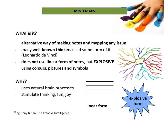 linear form WHAT is it? - alternative way of making notes and mapping any issue - many well-known thinkers used some form ...