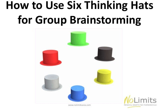 How To Use Six Thinking Hats For Groupinstorming Www Nolimitsasia Com
