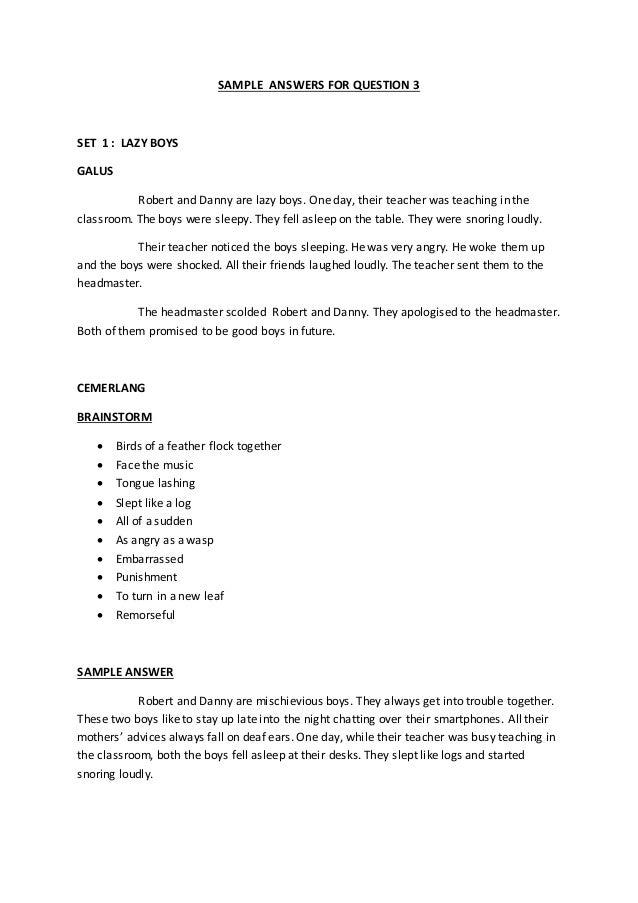 A naughty boy essay