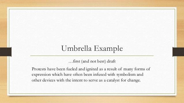 Example of umbrella thesis statement