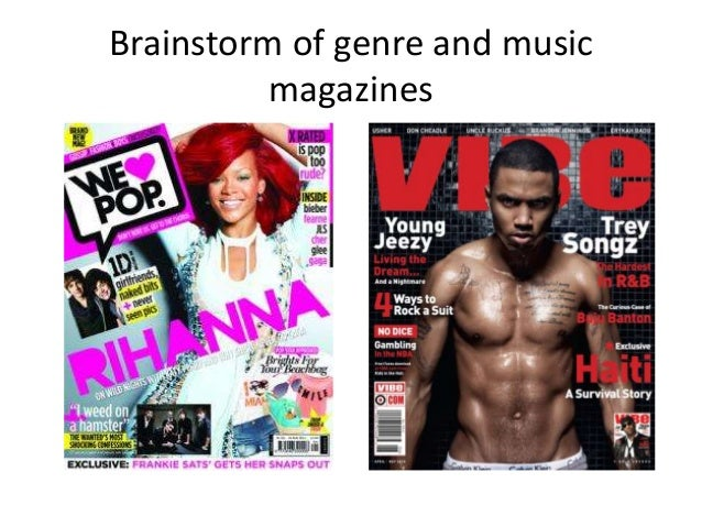 Brainstorm of genre and music magazines