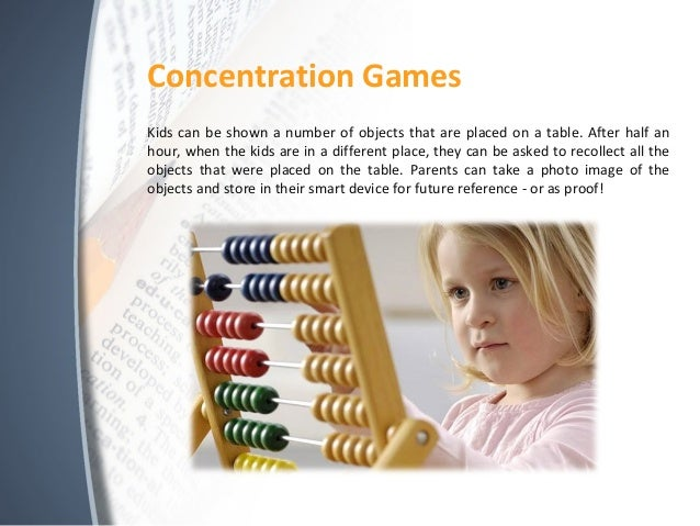 concentration improves memory Improve memory and concentration - studying music, focus music with alpha waves clear your mind and enhance your brain function and concentration with this relaxing study music by jordan jessep make studying easier - boost your concentration, improve your memory, stay focused for longer.