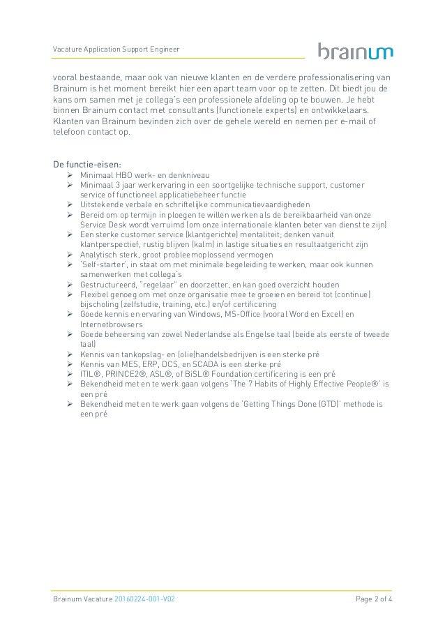 Brainum Vacature Application Support Engineer Slide 2