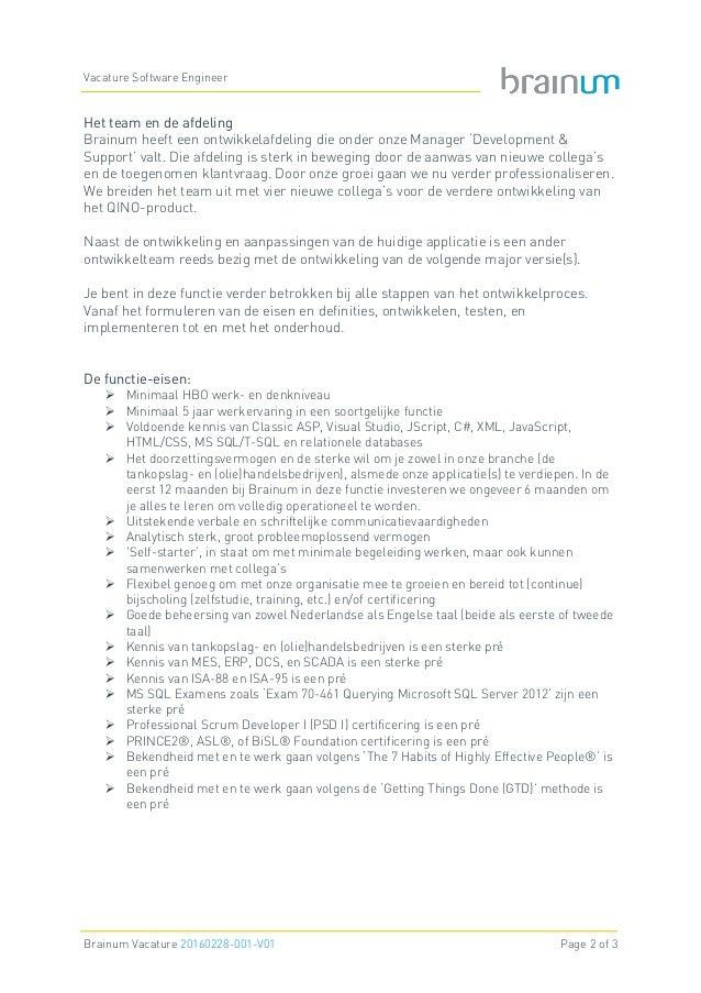 Brainum Vacature Software Engineer Slide 2