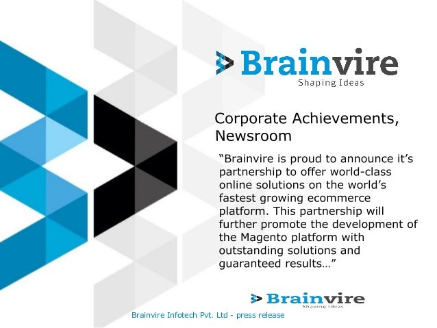 Brainvire Infotech Pvt. Ltd - press release