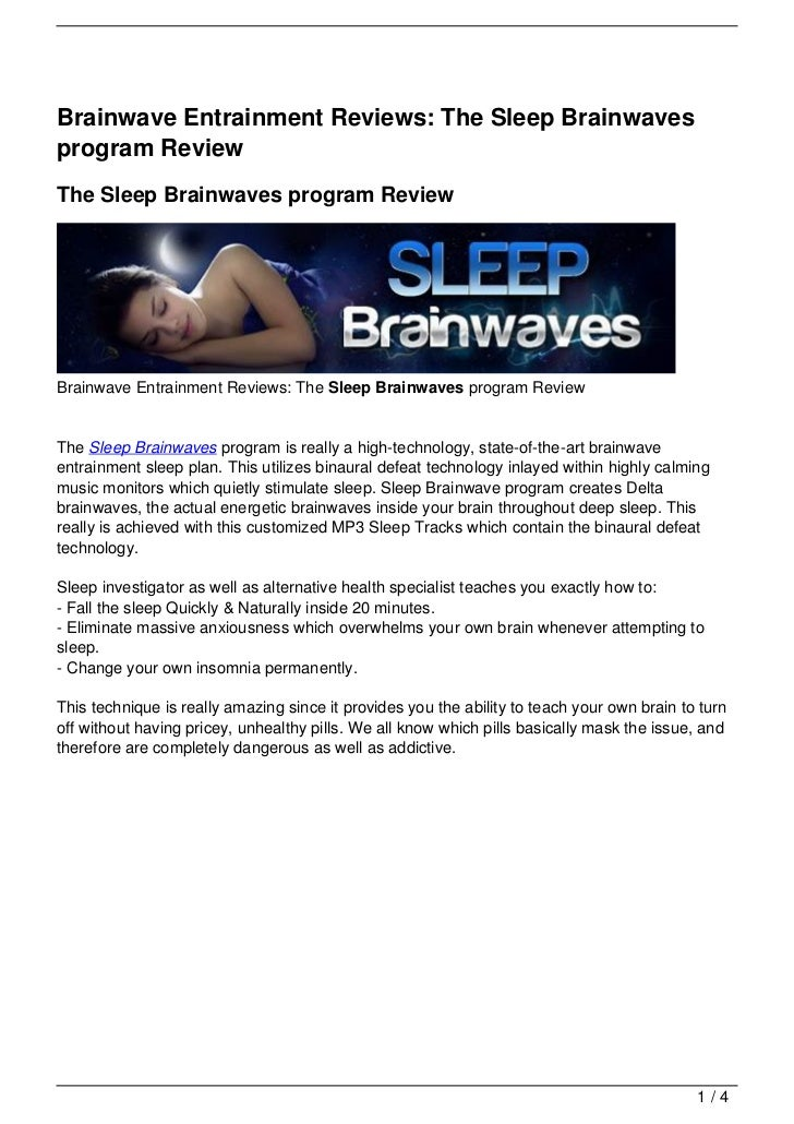 Brainwave Entrainment Reviews: The Sleep Brainwavesprogram ReviewThe Sleep Brainwaves program ReviewBrainwave Entrainment ...