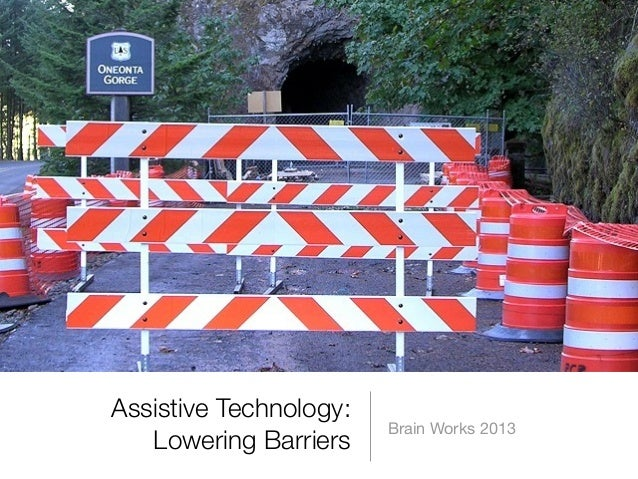 Assistive Technology: Lowering Barriers  Brain Works 2013