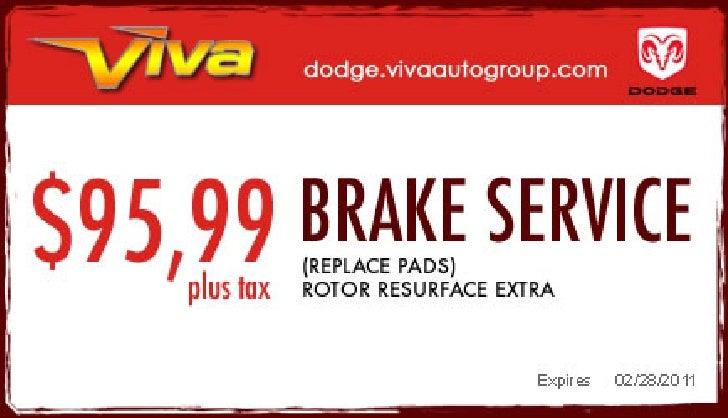 Brake Service Special – Viva Dodge Chrysler Jeep El Paso TX