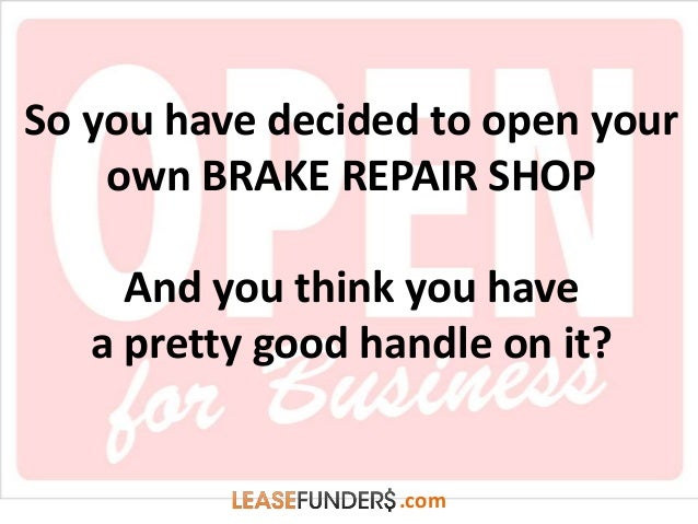 Cheap Brake Jobs >> Brake Repair Shop – What Equipment Do You Need?