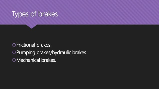 Types Of Brake Fade : Brakes and dynamometer knw