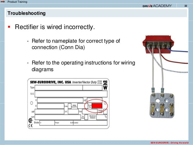 voltage components are damaged sew-eurodrive—driving the world