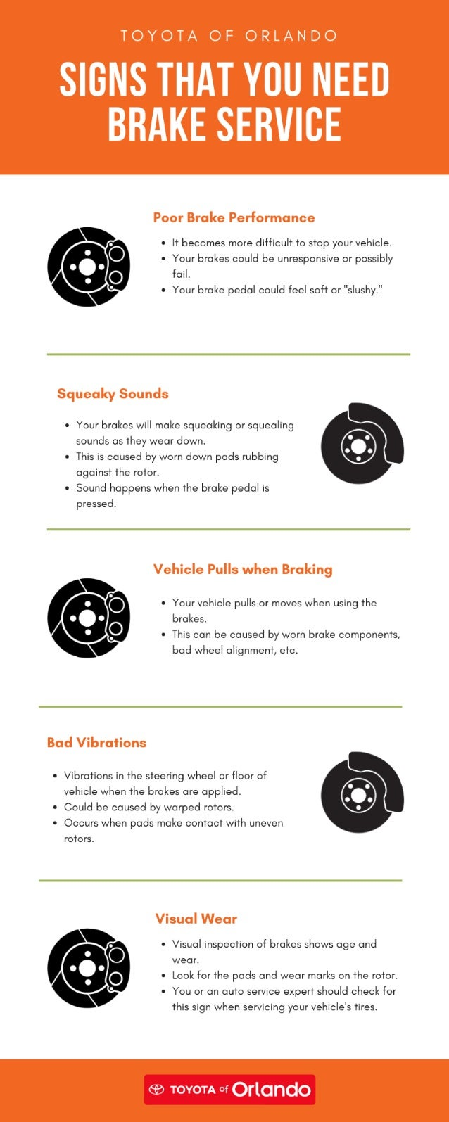 Signs That You Need Brake Service