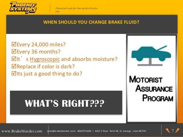 Brake Fluid When Should It Be Changed