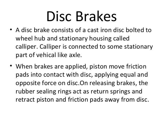 Disc brake ppt