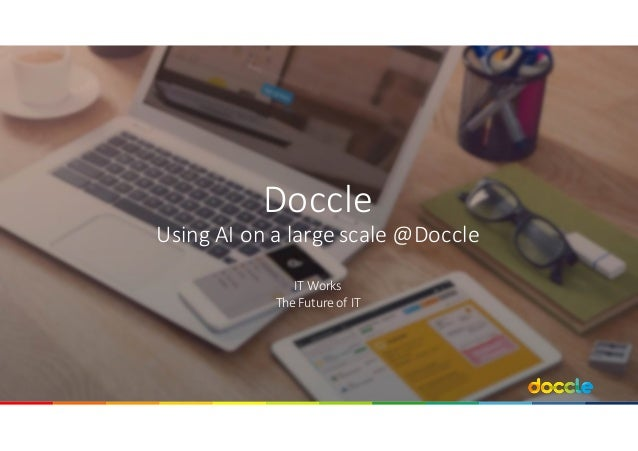 Doccle Using	AI	on	a	large	scale @Doccle IT	Works	 The	Future of	IT