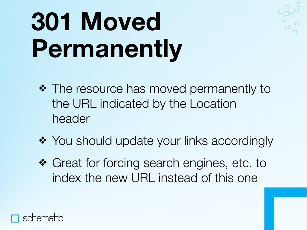 301 Move: 301 Moved Permanently The