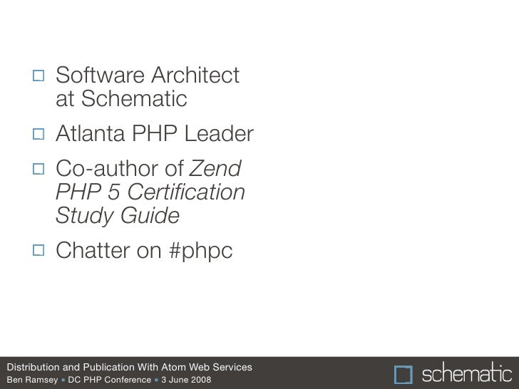 Distribution and Publication With Atom Web Services Slide 2