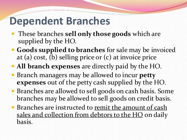 home office and branch accounting Home office - branch and agency accounting home documents home office - branch and agency accounting.