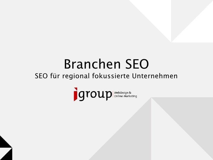 Branchen SEO SEO für regional fokussierte Unternehmen