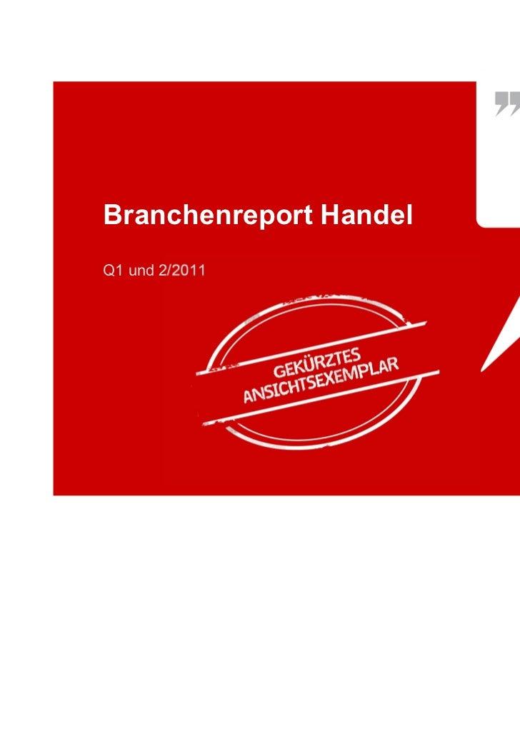 Branchenreport HandelQ1 und 2/2011