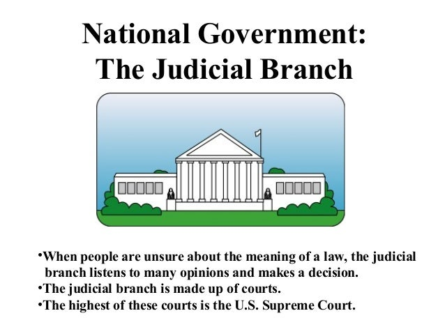 a discussion on the judical branch of the government