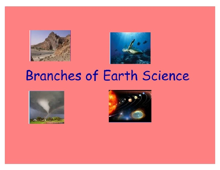 Branches Of Earth Science Master