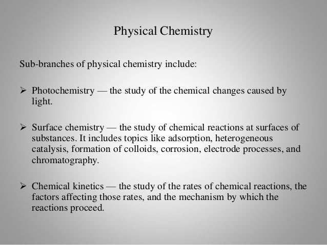 analytical chemistry the branch of chemistry Analytical chemistry is the branch of chemistry concerned with determining the qualitative and quantitative composition of substances it is a branch which is broad in scope and its applications extend to all parts of an industrialized society.