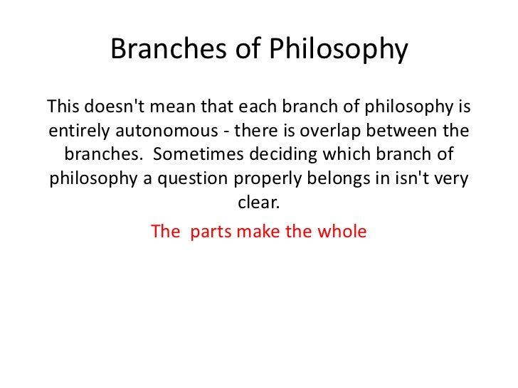 explain the relevance of the branches of philosophy in the education system